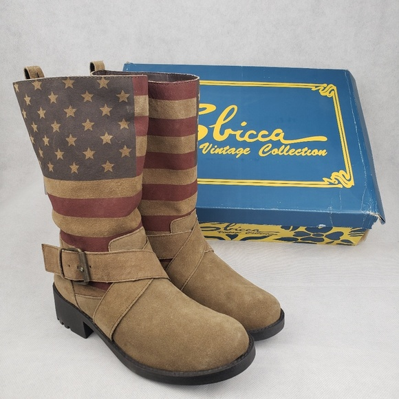 7c9f0b04dad96 Sbicca American flag Vintage Boots Size 6.5 NWT